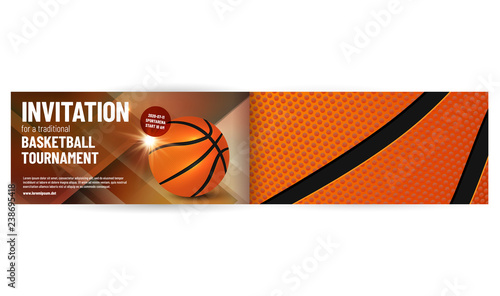 Basketball Tournament Invitation Template