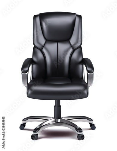 Fotografie, Obraz Office chair isolated realistic vector 3d illustration.