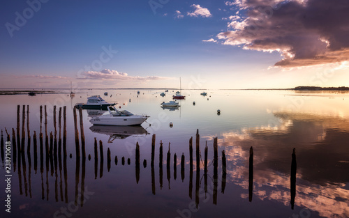 Sunset on the Arcachon Bay Wallpaper Mural