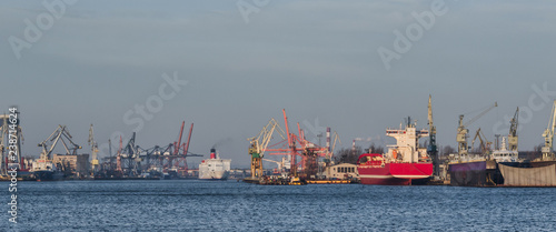 In de dag Poort SEAPORT - Cargo ships and Passenger Ferry in Gdynia