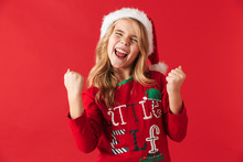 Cheerful Little Girl Wearing C...