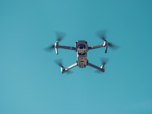 Drone Against Blue Sky