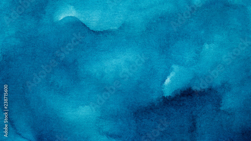 Fotografiet Blue azure abstract watercolor background for textures backgrounds and web banne