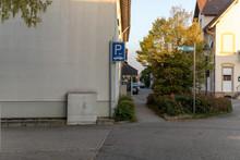 Hinweis Schild Für Parkmöglichkeiten