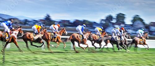 Foto op Canvas Paardrijden Horse Racers