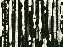 Abstract Grunge Vector Background. Monochrome Composition Of Irregular Overlapping Graphic Elements.