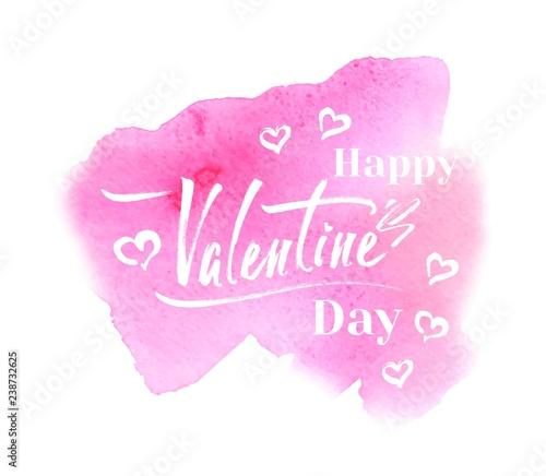 Fototapety, obrazy: Happy Valentines Day vector card design