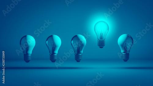 Cuadros en Lienzo Intelligente Glühbirne mit Idee