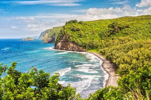 Panoramia View over Pololu Valley - Buy this stock photo and explore