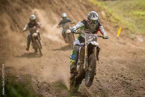 Obraz na plátně Motocross wyścig