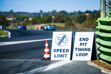 Speed limit rules in motor sport competition