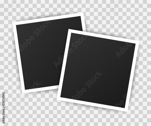 Fototapeta Photo frame mockup design. Realistic photograph with blank space for your image.  Vector illustration. obraz na płótnie
