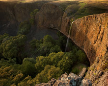 Large Waterfall Over Giant Cli...
