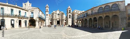 Foto op Aluminium Havana Hanava Cuba Plaza de la Cathedral