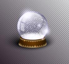 Vector Snow Globe Empty Templa...