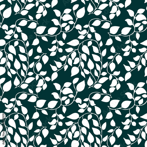 Αφίσα  Seamless pattern with petal and leaves
