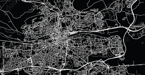 Fotomural Urban vector city map of Cork, Ireland