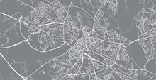 Urban Vector City Map Of Limerick, Ireland
