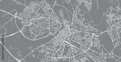 Urban vector city map of Limerick, Ireland Wallpaper Mural