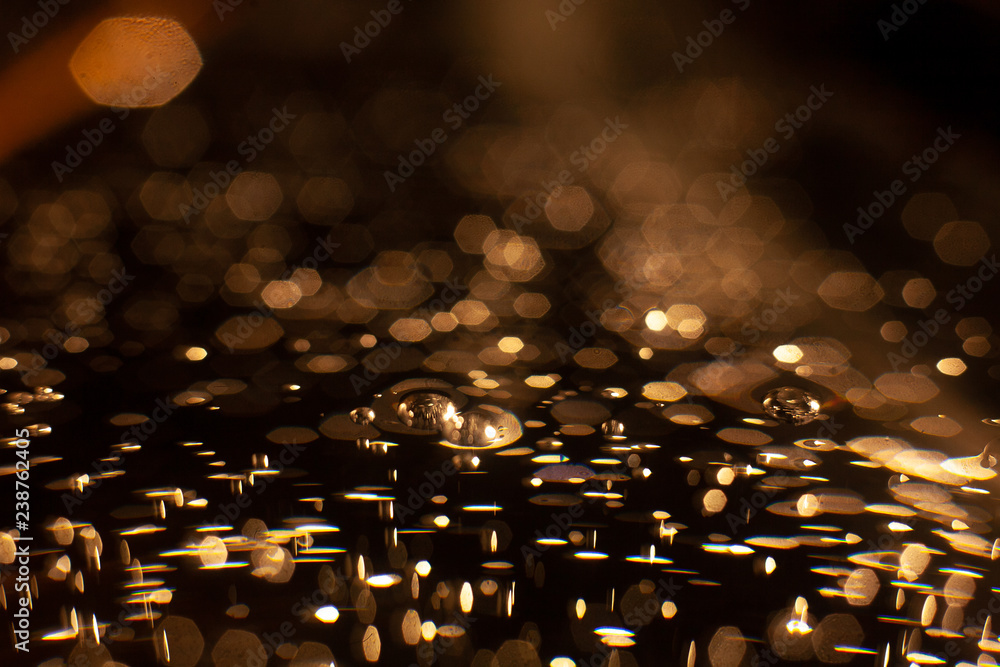 Fototapeta Abstract of christmas and bokeh light with glitter background