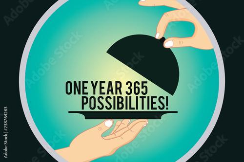 Fényképezés  Word writing text One Year 365 Possibilities