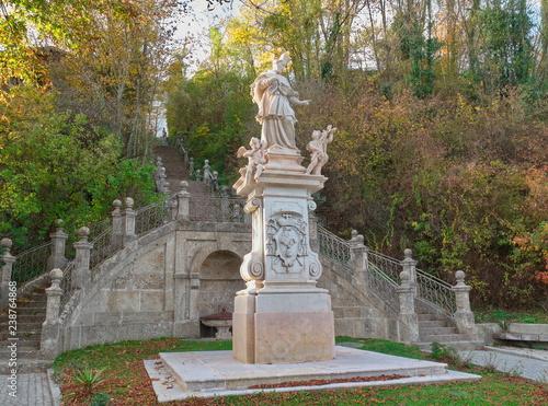 Fotografie, Obraz  Statue des Heiligen Nepomuk in Oberndorf / Salzburg / Österreich
