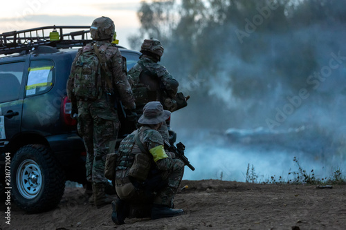 Fotografía  Army soldiers during the military operation