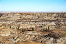 Layers Of Rock Formations And Erosion In The Badlands