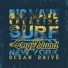 Surfing NYC, T-shirt  Surfing Long Island, Water Sports