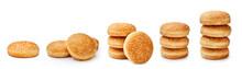 Set Of Hamburger Buns With Ses...