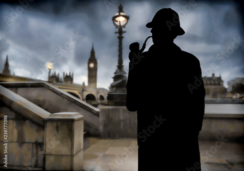 Pinturas sobre lienzo  detective at London