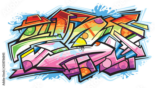 Deurstickers Graffiti Graffiti art