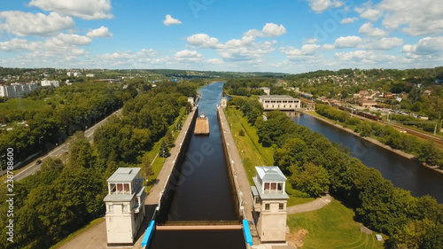 Fotografia  Sluice Gates on the River