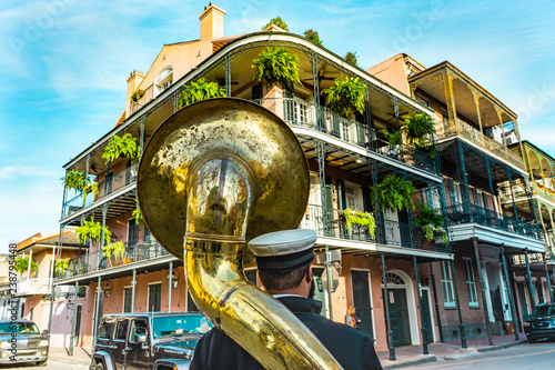 New Orleans in a sunny beautiful day with blue skies. Canvas Print