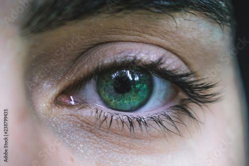 Fotografie, Obraz  Occhio verde