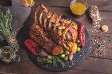 Grilled Roasted Rack Of Lamb V...