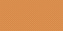 Waffles Realistic Vector Seamless Texture.Sweet And Delicious Fo