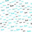 Light BLUE vector seamless backdrop with phrase LOVE YOU.