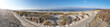 panoramic image of bikeway and seaside dunes in Hiddensee island, Northern Germany