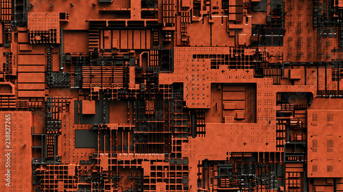 Photo  an abstract technical background (3d rendering)