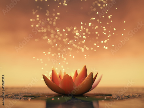 a lotus flower good for relaxation(3d rendering) Wallpaper Mural