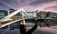 The Tradeston Bridge Over The ...
