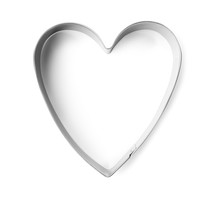 Heart Shaped Cookie Cutter On ...