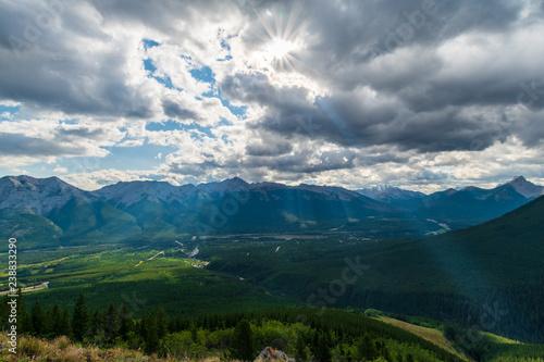 Staande foto Nepal Light rays peeking through the clouds