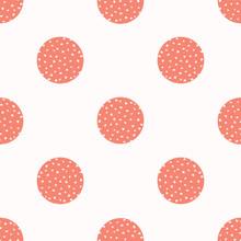 Peachy Tiny Living Coral Polka...