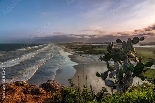 Fotografie, Obraz  Sunset in hill of the guardhouse - Torres, Brasil
