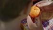 Ladybug on a tangerine