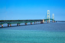 Opened In 1957, The 5 Mile-long Mackinac Bridge Is The World's 20th-longest Main Span And The Longest Suspension Bridge Between Anchorages In The Western Hemisphere.
