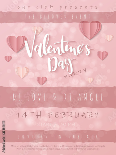 Vector illustration of valentine's day greetings card