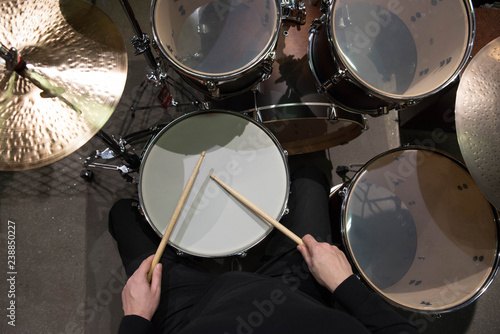 Foto Professional drum set closeup